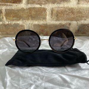 "KREWE - 24K Gold-Plated, Black ""Louisa"" Sunglasses"